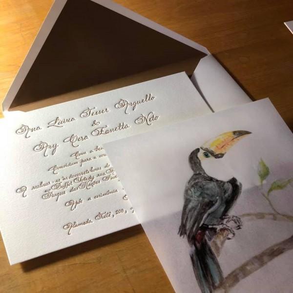 Convite de Casamento Ana Luiza e Ary