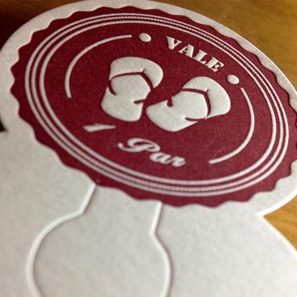 Cartão em Letterpress da Online Editora