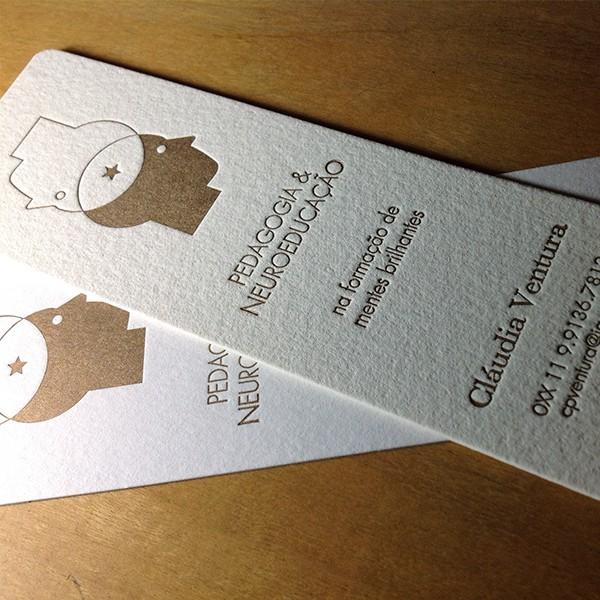 Cartão Social em Letterpress de Cláudia Ventura