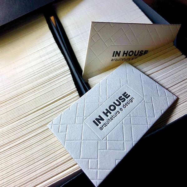 Cartões Corporativos IN HOUSE Arquitetura e Design
