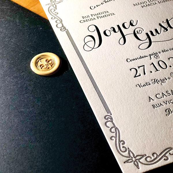Convite de Casamento da Joyce e Gustavo