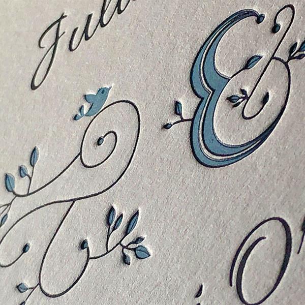 Convite de Casamento Juliana e Rui