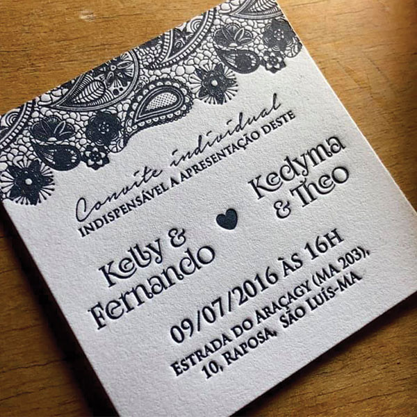Convite de Casamento Kelly & Fernando Kedyma & Theo