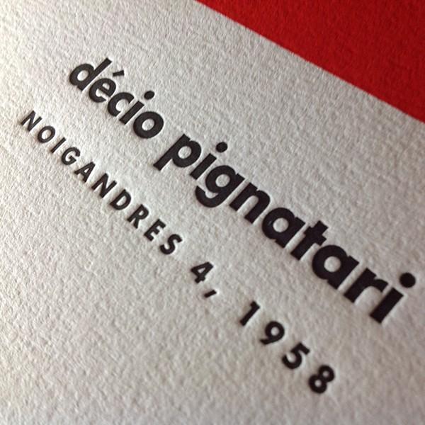 Cartaz em Letterpress de Décio Pignatari