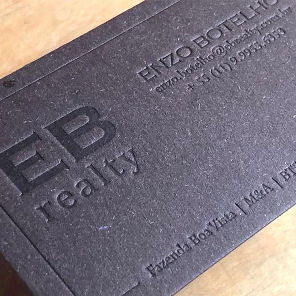 Cartões Corporativos em Letterpress de EB Realty