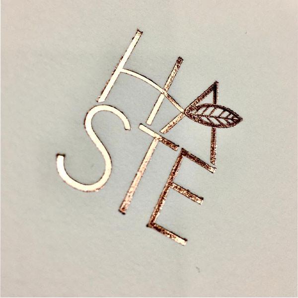 Cartões Corporativos em Letterpress de Grupo HASTE