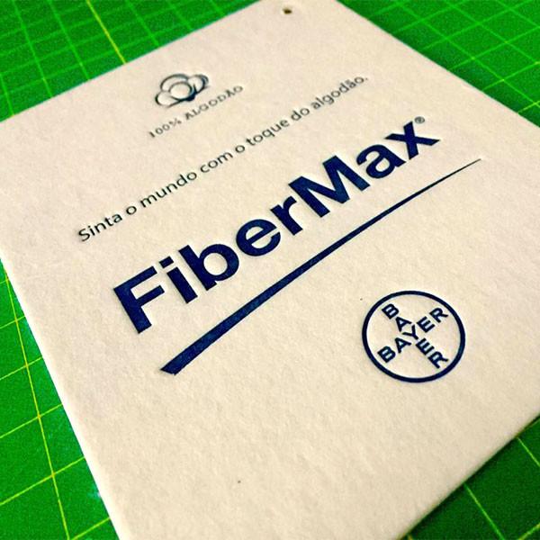 Etiquetas FiberMax em Letterpress para BAYER