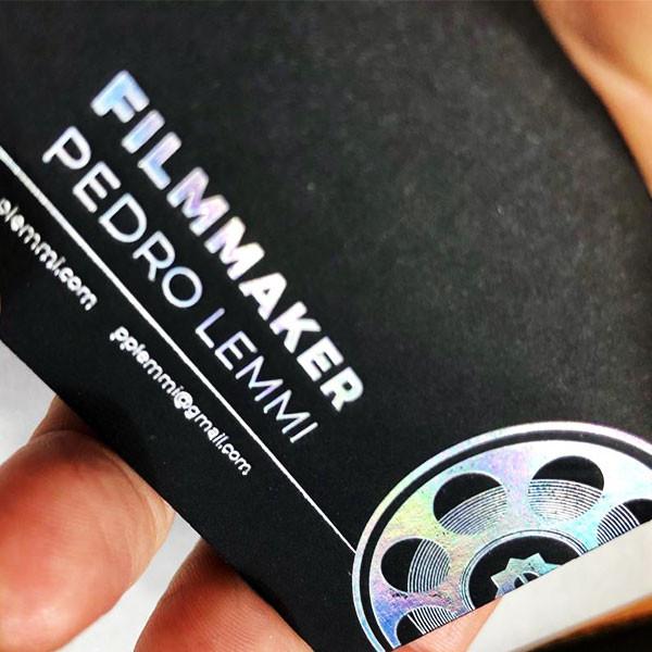 Cartão Social em Letterpress de FILMAKER Pedro Lemmi