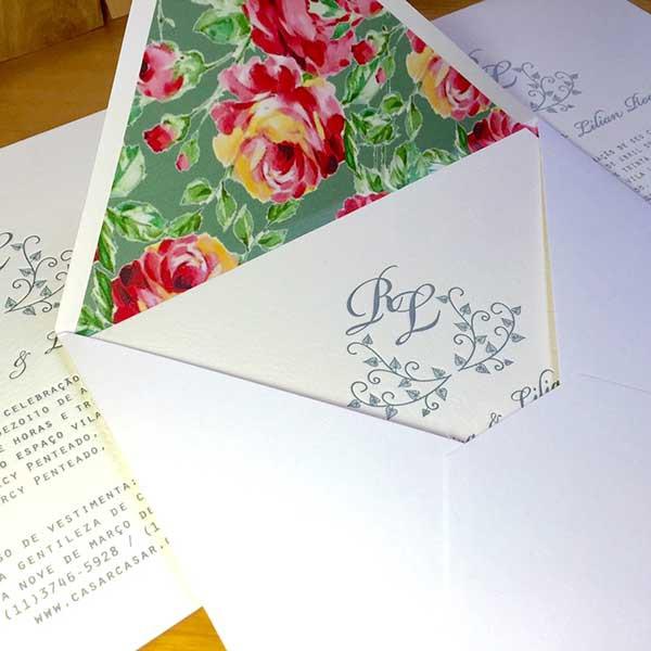 Convite de Casamento em Letterpress de Lilian e Rafael