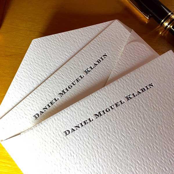 Cartão Social em Letterpress de Daniel Miguel Klabin