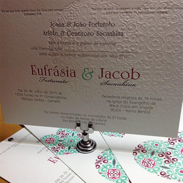 Cartão Social em Letterpress de Eufrásia e Jacob