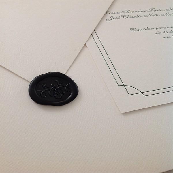 Convite de Casamento em Letterpress de Carem e Ivo
