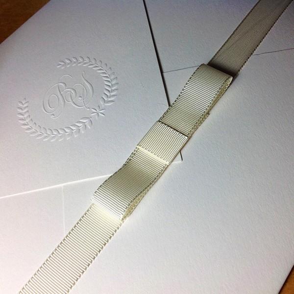 Convite de Casamento em Letterpress de Bruna e Sydnei