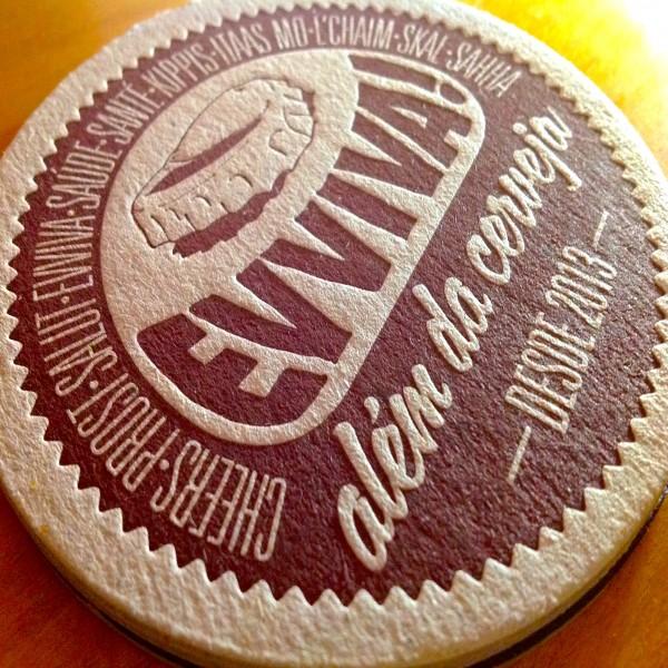 Bolacha de Chopp (Coaster) em Letterpress para a Evviva
