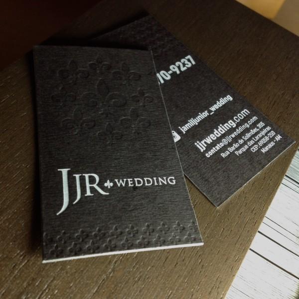 Cartão Social em Letterpress da JJR