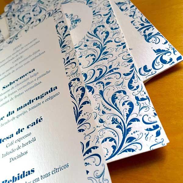 Convite de Casamento em Letterpress de Patrícia e Sérgio