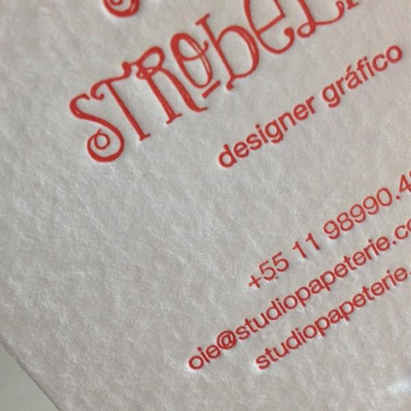 Cartão Social em Letterpress da Studio Papeterie