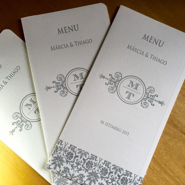 Convite de Casamento em Letterpress de Márcia e Thiago